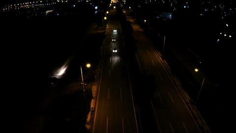 Above the Road at Night 1 Footage