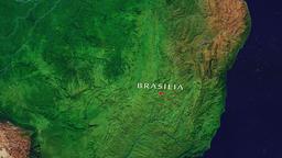 Brasilia - Brazil zoom in from space Animation