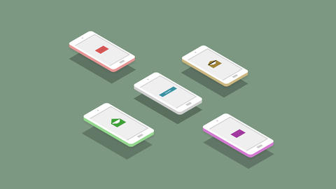Animated isometric mailing with alpha channel Animation