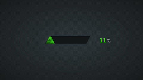Green crystal download percent interface on the dark... Stock Video Footage