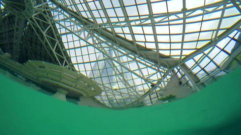 Underwater Pool Roof Footage