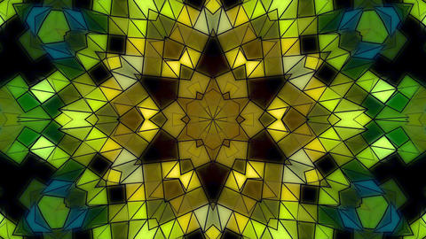 Geometrical Floral Kaleidoscope Fractal Abstract Colored Background Animation