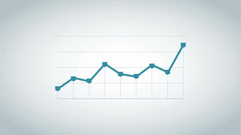 Infographic business graph chart seamless loop animation Animation