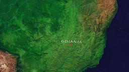 Goiania - Brazil zoom in from space Animation