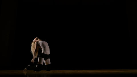 Girl performing contemporary art dance Footage