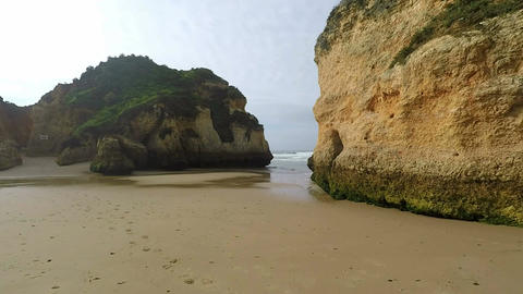 natural and wild algarve coast in portugal Footage