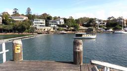 Parsley Bay entrance Sydney harbour Footage