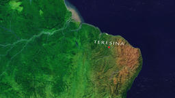 Teresina - Brazil zoom in from space Animation
