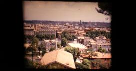 1971 - Rome Italy - Hadrian s Mausoleum castel santangelo Panoramic city view 31 Footage