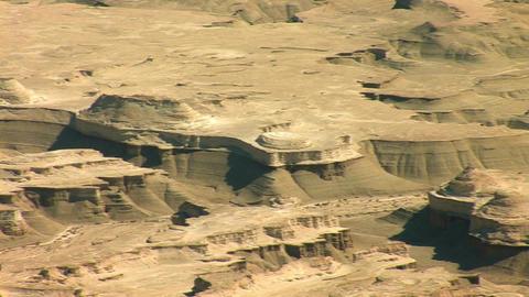 view form Masada: Judean desert Footage