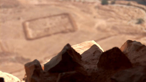 view from Masada q Stock Video Footage
