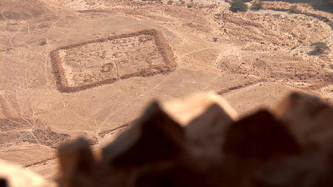 view from Masada q Footage