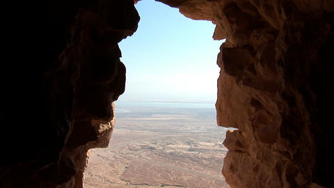 view from Masada t Stock Video Footage