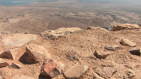 masada view Stock Video Footage