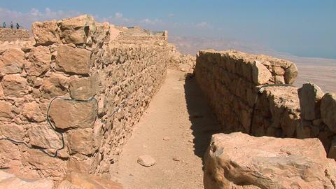 masada walls Stock Video Footage
