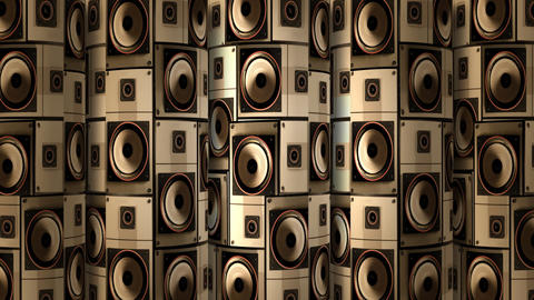 Speaker Wall Cylinder 02 Stock Video Footage