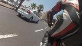 motorbike motorcycle Tel Aviv city rider riding biker driver drive driving Footage