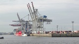 Unloading Of The Cargo Ship stock footage
