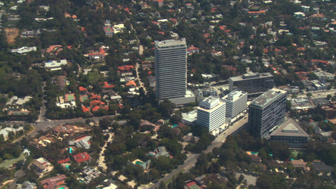 Aerial, West Hollywood, California Stock Video Footage