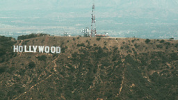 Aerial, Hollywood Sign 01 Stock Video Footage