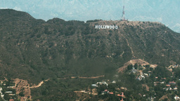 Aerial, Hollywood Sign 03 Stock Video Footage