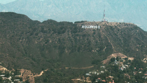 Aerial, Hollywood Sign 03 Footage