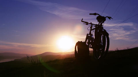 Sunset silhouette Stock Video Footage