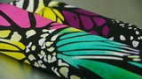 silk fabric,butterfly pattern Footage
