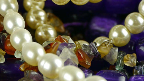 gorgeous gemstones jewelry,pearl necklace Footage