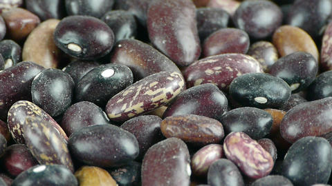 many black beans & flower beans,grain food Stock Video Footage