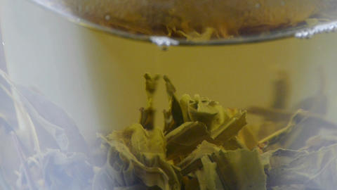 A cup of green tea Footage