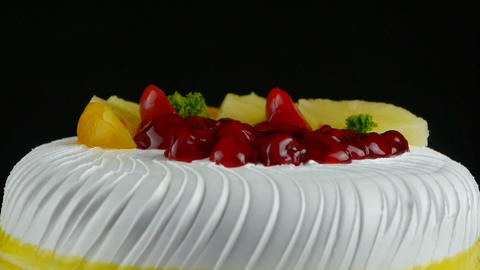 delicious fruit cake,cherry,tomato,pineapple Footage