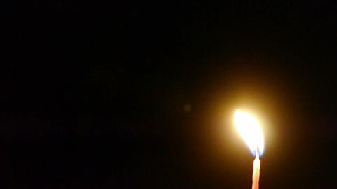 Candles burning in the night Footage