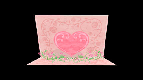 Popup letter heart Stock Video Footage