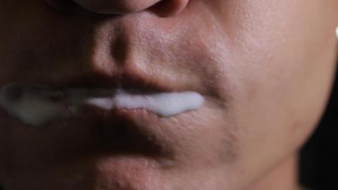 Brushing Teeth close up Stock Video Footage