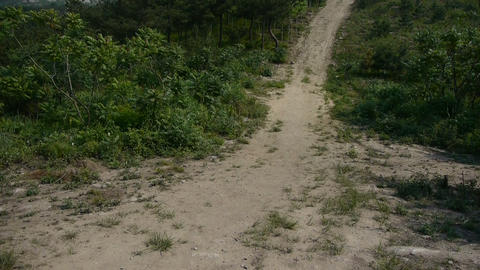 Dirt road leading to the hilltop,steep-rock,Cliff top of... Stock Video Footage
