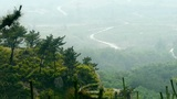 Panoramic of Mountains & hill,High-voltage wire tower on mountains Footage