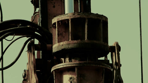 drilling machinery,Construction of city buildings,sense... Stock Video Footage