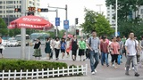 Urban intersection street,Busy people Footage