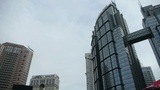 Urban intersection street,Busy people,glass curtain wall Footage