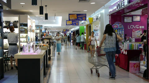 customer in the shopping malls scene,modern city environment Stock Video Footage