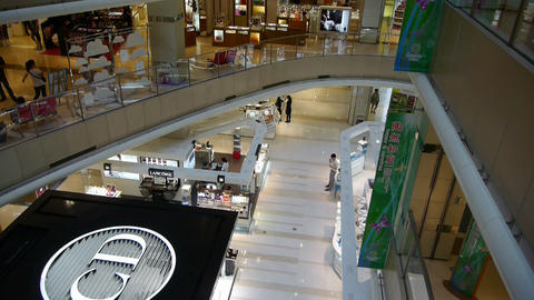 shopping malls scene,modern city environment Footage