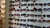 entire wall of sunglasses at the mall Footage