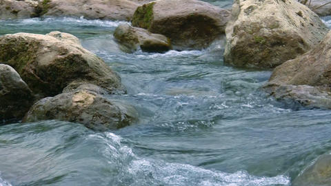 mountain rivers of the Crimea Stock Video Footage