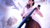 woman play doublebass contrabass jazz orchestra bass play prestige symphonic Footage