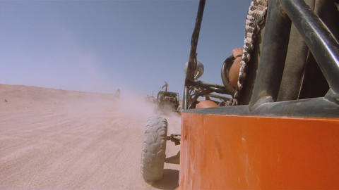 buggy in the desert Stock Video Footage