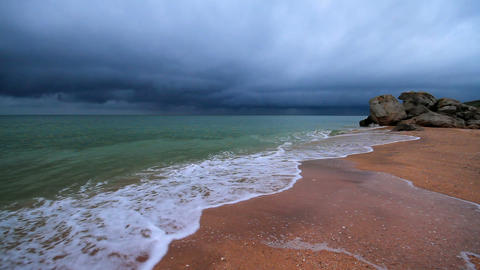 stormy night at sea Stock Video Footage