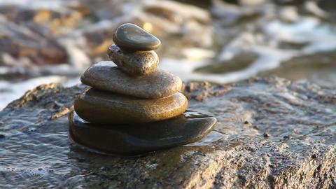 sea zen stones Stock Video Footage