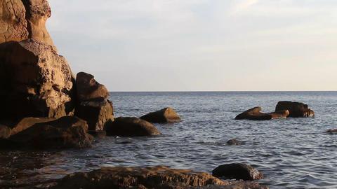 sea rock Stock Video Footage