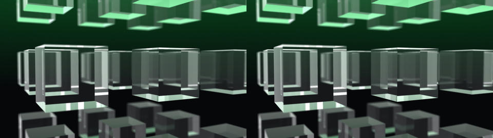 3x3 cubes - Stereo 3D Stock Video Footage